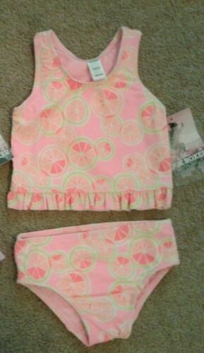 1 Girls Infant Toddler Tankini Swimsuit Set 2 pc Bathing suit Joe Boxer New UPF