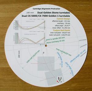 Dual-CS-5000-CS-7000-Golden-1-Golden-Stone-Tonearm-Alignment-Protractor