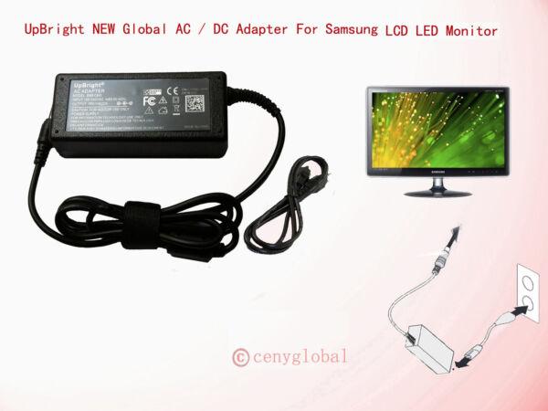 14v Ac Adapter For Samsung Monitor S27e S27e510csq S27e591 Ls27e500c Ls27e510c