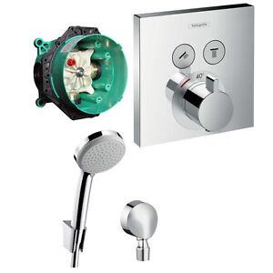 Extremely Hans Grohe Shower Select Thermostat Unterputz Wannen Armatur Set  MR23