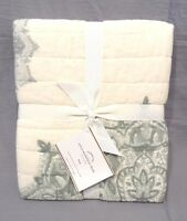 Pottery Barn Blue Erica Medallion Quilted King Sham Set/2