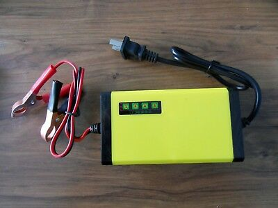New 12V 1300mA Battery Charger Cars PWC/'s  LED Status Free Ship Motorcycles