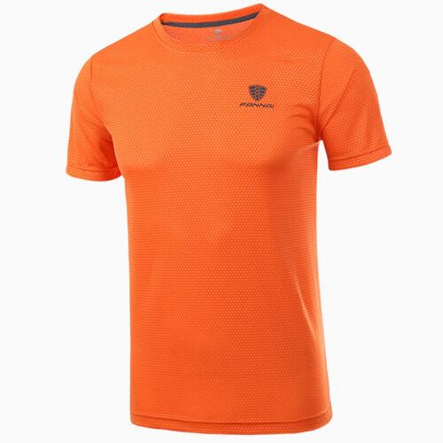 Herren Trikot Sports T-Shirt Kurzarm Freizeit Shirts Schnell Trocknend Tee Tops