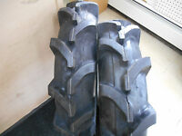 (two) 8-16 Crop-max 6ply Rated R-1 Lug Compact Tractor Bias Tires Heavy Duty