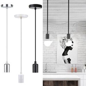 LED-E27-Pendente-soffitto-portalampada-a-Sospensione-Lamp-Holder-con-1m-Cavo