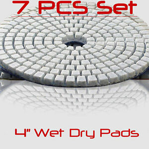 Wet Dry Diamond Polishing 16 Pads 4 Inch Set For Granite Concrete Marble THICK