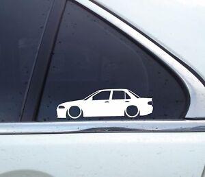 2X-Lowered-car-silhouette-stickers-for-Mitsubishi-lancer-Evo-1-2-3-no-spoiler