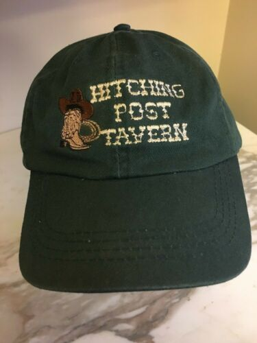 Hitching Post Tavern Hat Cap Cowboy Boot Western B