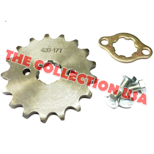 New #420 Chain Front Pinion Sprocket With 17 Teeth For Atv Go Karts Dirt Bike