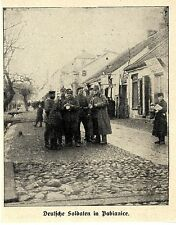 Russisch-Polen * Deutsche Soldaten in Pabianice (bei Lodz) * Bilddokument 1914