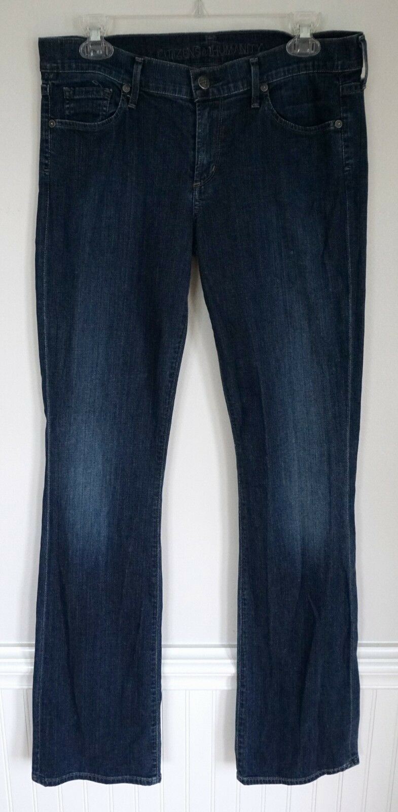 CITIZENS OF HUMANITY Kelly Low Waist Boot Cut Stretch bluee Jeans Dark Wash Sz 30
