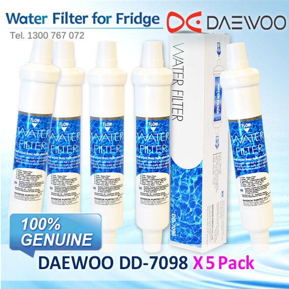 5 x DAEWOO FRIDGE WATER FILTER DD7098