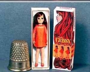 Dollhouse Miniature 1:12  Mrs Beasley Doll Box 1960s dollhouse girl