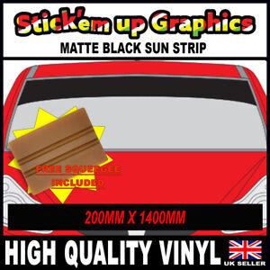 8IN-SPECIAL-OFFER-PLAIN-MATT-BLACK-SUN-STRIP-CAR-DECALS-GRAPHICS-SQUEEGEE-GIFT