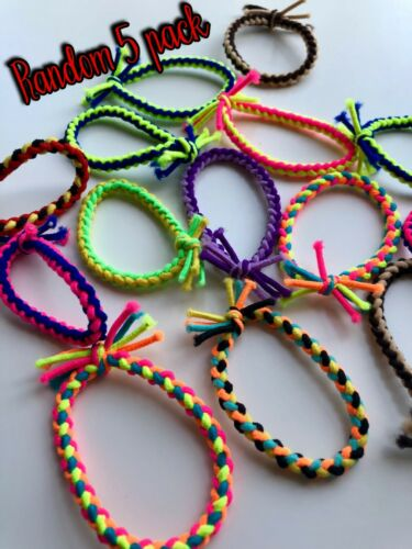 Multi Coloured Twisted Snag Free Bands Hair Bands//Bobbles//Elastic 5//10 Packs