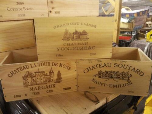 6 bottle Wooden Wine Box Crate French Genuine Storage Wedding Planter Hamper