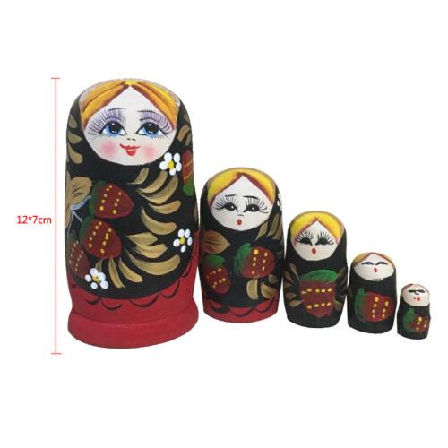 Doll House Wooden Russian Nesting Dolls Babushka Matryoshka Toys Kids Gift#1