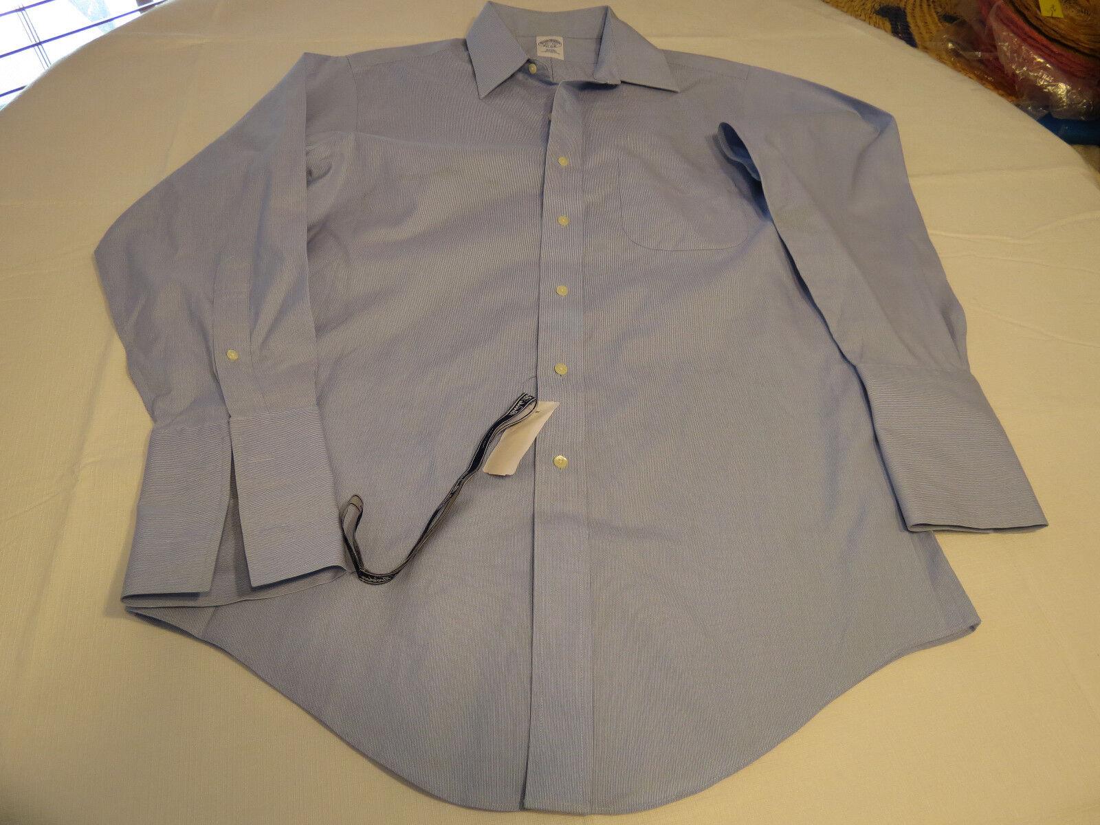 Mens Brooks Bredhers long sleeve button shirt bluee 15 1 2-32 slim Spots NWT@