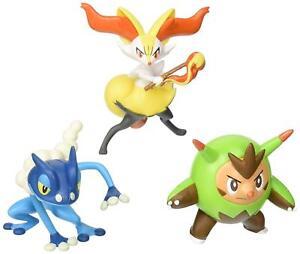 Lot de 3 figurines Pose d'action Tomy Pokemon Go - Quilladin, Braixen, Frogadier 53941185244