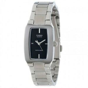 Black-and-Blue-Casio-Men-039-s-Watch-Stainless-Steel-Band-Analog-Quatrz-mtp-1165A