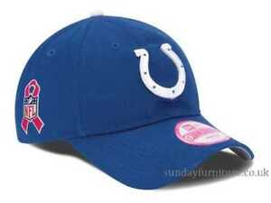 c16a4281f56ca Indianapolis Colts Women s New Era 9FORTY NFL Breast Cancer ...