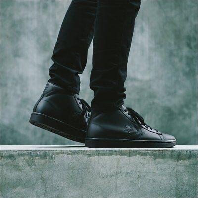 Converse Pro Leather 76 Mid Mono Black