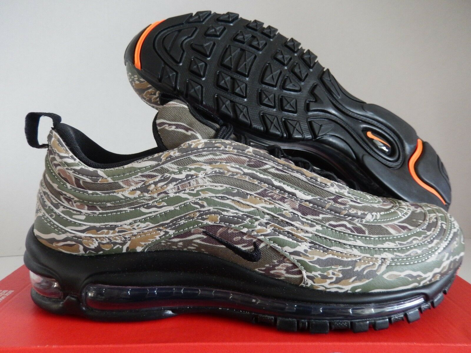 Nike air max 97 premio qs usa mimetico medio olive-nero sz 8 [aj2614-205]