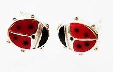 Lady Bug 925 Sterling Silver Kids Earrings