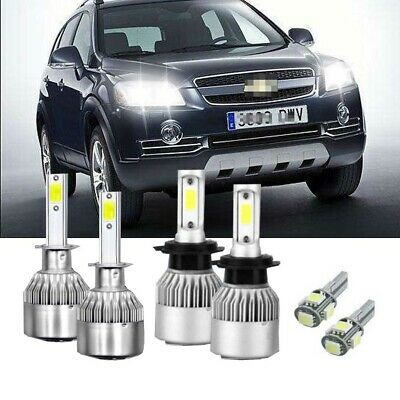 VW Caddy MK2 100w Super White Xenon HID High//Low//LED Side Headlight Bulbs Set
