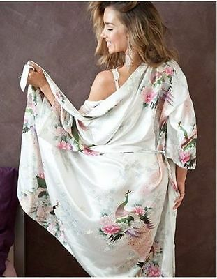 Women robe Silk Satin Robes Bridal Wedding Bridesmaid Bride Gown kimono robe