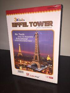 CubicFun-Puzzle-3D-LA-TORRE-EIFFEL-Golden-Tower-37-Pezzi-Sigillato