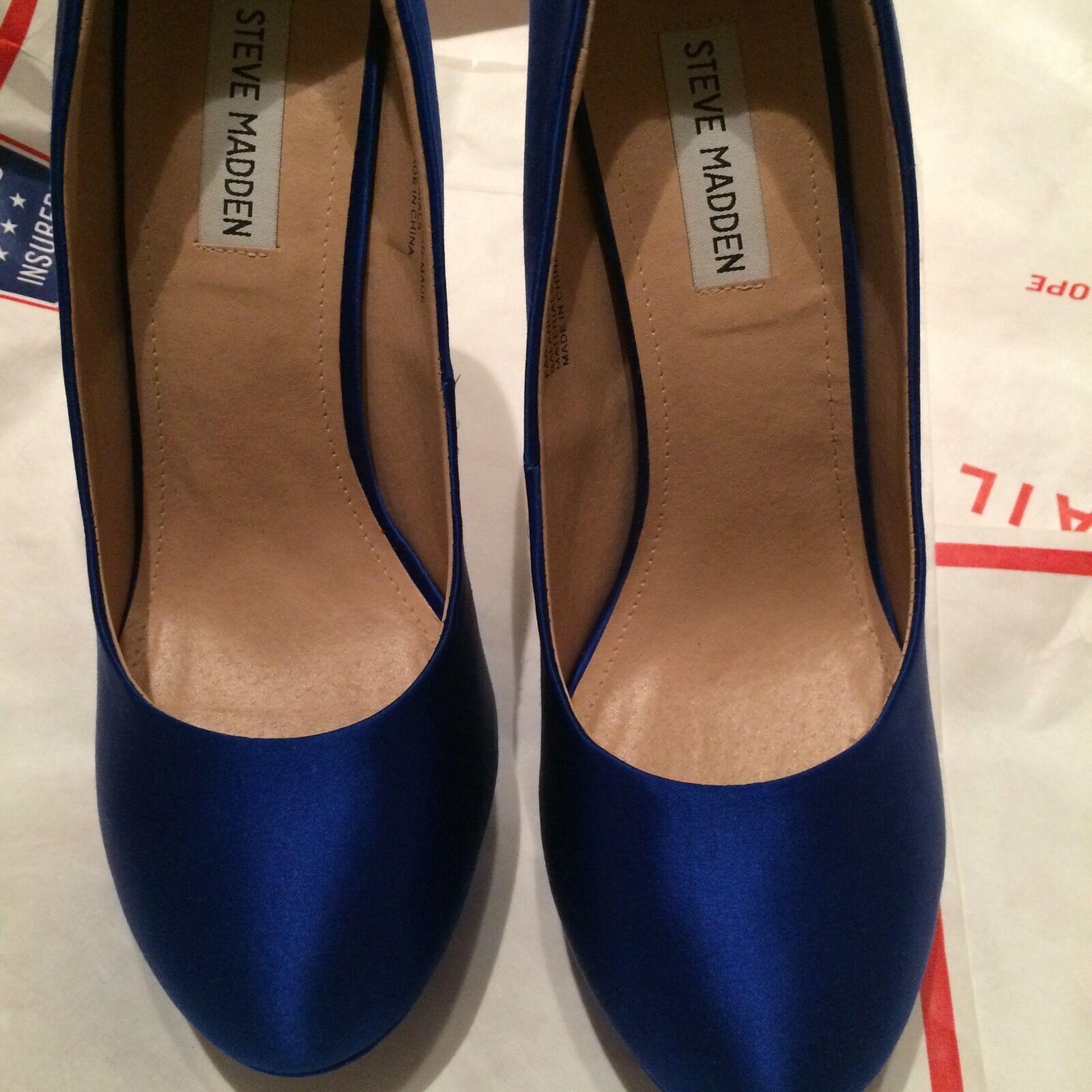 10 New Steve Madden Platform Blue Satin Platform Madden Shoes 5bfa84