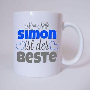 Mein-Neffe-034-Name-034-ist-der-Beste-Geschenk-Tasse-Kaffeetasse-Buero-Geburtstag