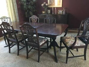 Details About 1905 1920 Duncan Phyfe Dining Room Table And Chairs