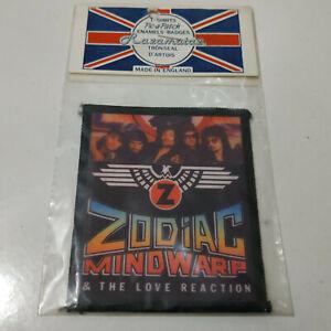 Vintage   ZODIAC MINDWARP   Unused  80s PATCH  heavy metal