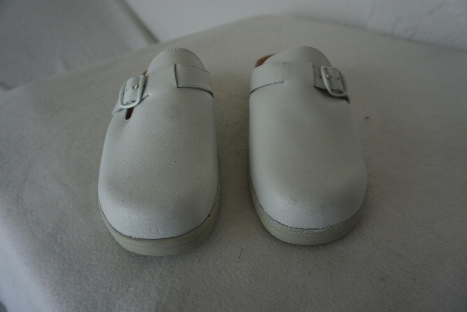 Ortopedic Hartjes Hartjes Hartjes kvinnor Sandals Practice skor Clogs Storlek 40 vit läder ny  topp varumärke