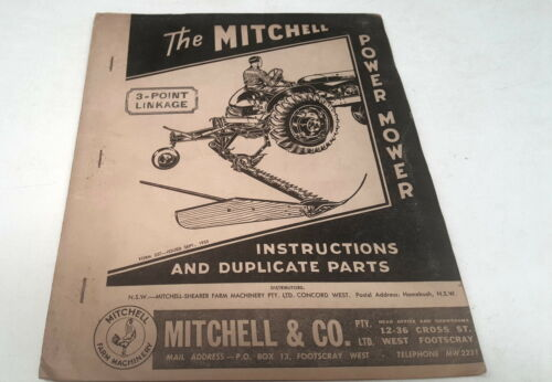 1955 MITCHELL POWER MOWER Factory Instructions & Parts List