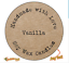 SOY WAX MELTS CANDLE Personalised Shabby Brown Kraft Effect Favour Stickers 111