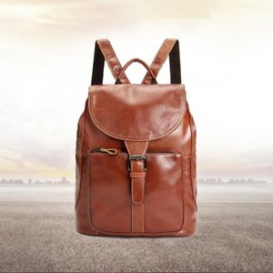Stylish-Women-039-s-Genuine-Leather-Cowhide-Portable-Carry-Bag-Mini-Backpack-New