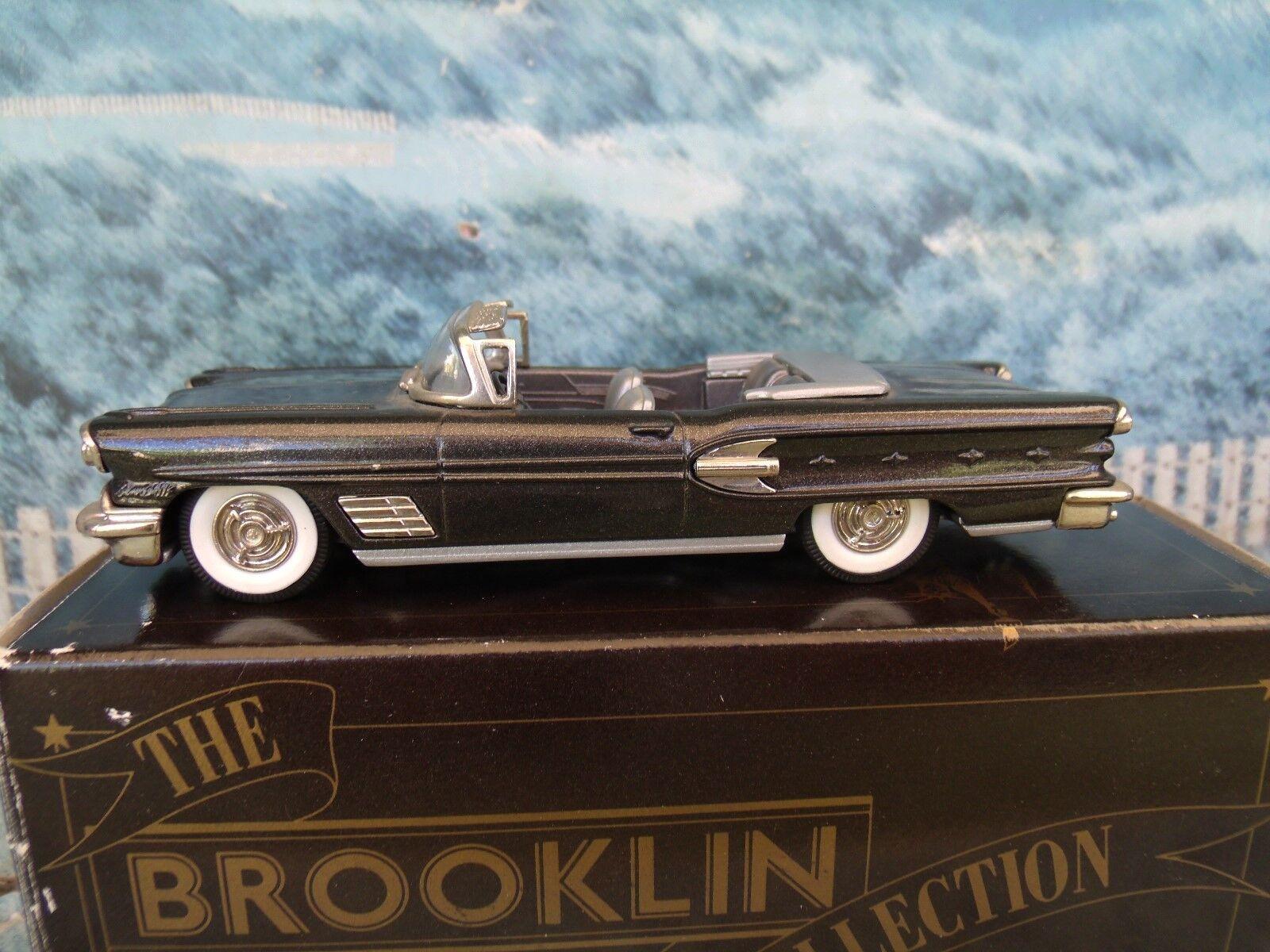 1 43 BROOKLIN MODELS BRK 25 1958 PONTIAC bonneville congreeniblr white metal