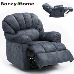 Oversize-Recliner-Chair-Thickened-Wide-Backrest-Seat-Manual-Sofa-Comfy-Velvet