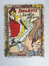 "James Rizzi: original 3D ""JANE AVRIL AT THE JARDIN DE PARIS"", handsigniert"