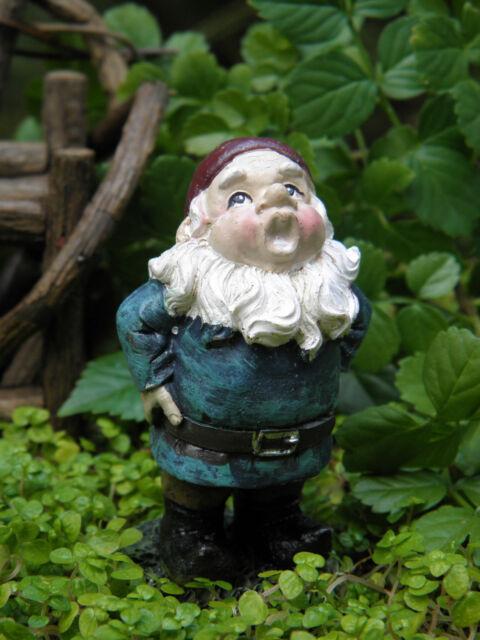 Miniature Dollhouse FAIRY GARDEN ~ Mini Singing Gnome ~ NEW