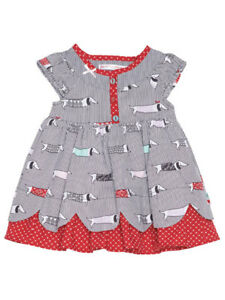 2457c9ed7b6f5 Deux Par Deux Toddler Girl Jersey Dress Doxie Love Print Sizes 3