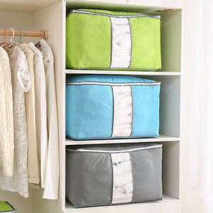 Foldable-Home-Closet-Storage-Bag-Clothes-Quilt-Blanket-Zipper-Organizer-Box-NEW