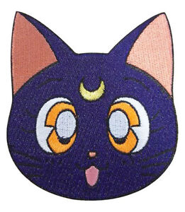 Sailor-moon-large-iron-on-Luna-head-patch-new-sealed