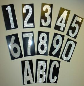 3mtm class 1 reflective house letterbox number stickers With reflective letter stickers