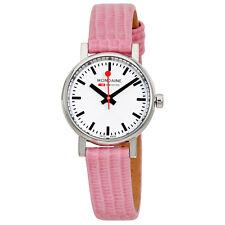 Mondaine Evo Petite Ladies Pink Lizard Watch A658.30301.11SBP