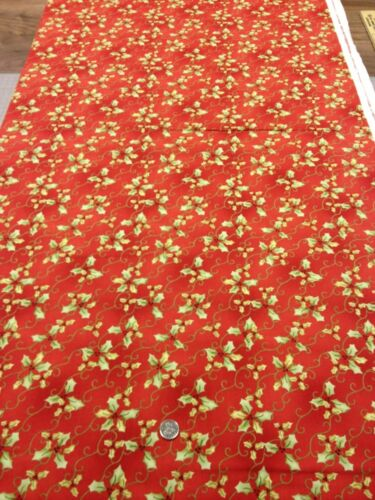 100/% algodón Quilting fabric alegría Amor Paz Noel Henry Glass Navidad Acebo
