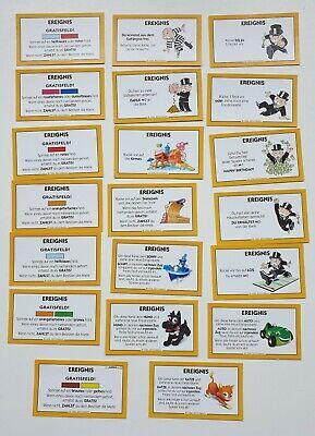 Junior Monopoly Ersatzteile Brettspiel Hund Katze Auto Schiff Karten Usw
